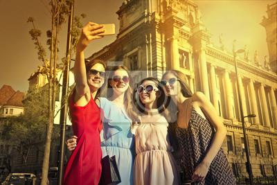 Friends doing a selfie