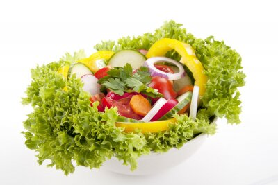 Poster frischer gesunder Salat mit gemischtem Gemüse