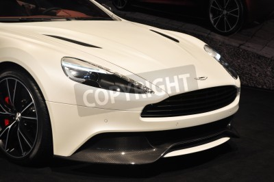 Poster Front view of the Aston Martin