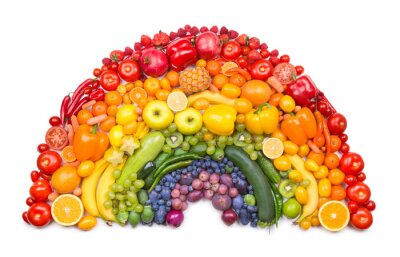 Poster fruit and vegetable rainbow