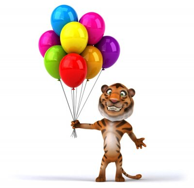 Poster Fun tiger