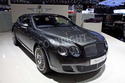 Poster GENEVA - MARCH 8: The new Bentley Continental