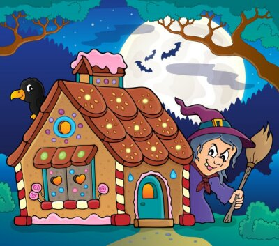 Poster Gingerbread house theme image 4