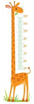 Poster Giraffe meter wall