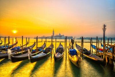 Poster Gondolas in Venice, Italy