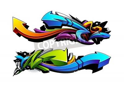 Poster Graffiti arrows designs. Vector illustration.