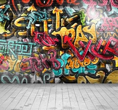 Poster Graffiti on wall, eps 10