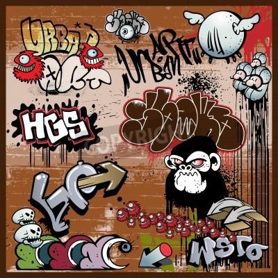 Poster graffiti urban art elements