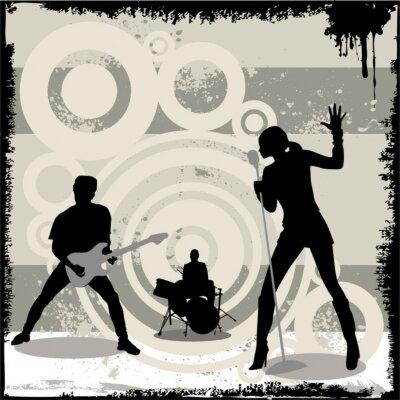 Poster grunge concert vector