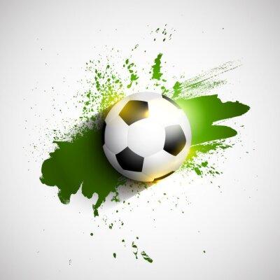 Poster Grunge football / soccer ball background