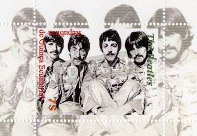 Poster Guinea - CIRCA 1996: The Beatles  - 1960s famous musical pop group