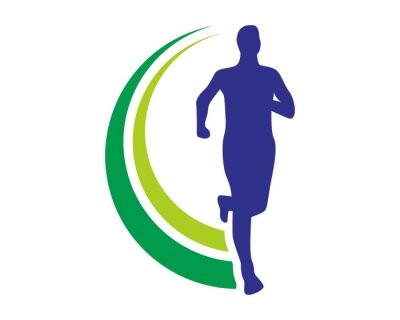 Poster health run logo