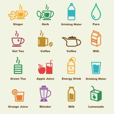 Poster healthy drink elements
