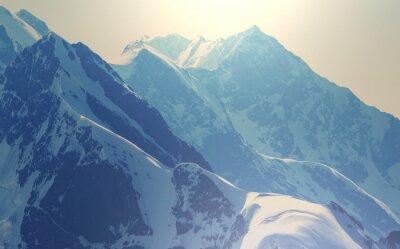 Poster High Caucasus mountains