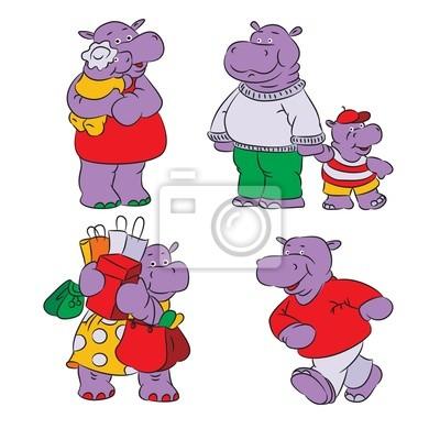 Poster hippopotamus