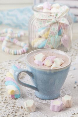 Poster Hot chocolate with marshmallows