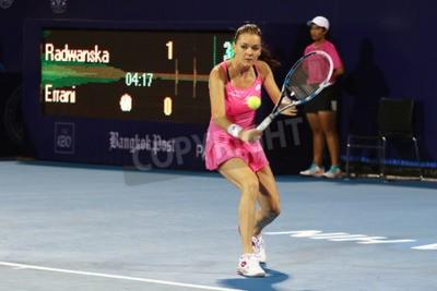 Poster Hua Hin, Thailand - January 1, 2016: Agnieszka Radwanska is ranked 5th in the world. World Tennis Thailand Championship 2016 at True Arena Hua Hin sport club, Prachuap Khiri Khan.