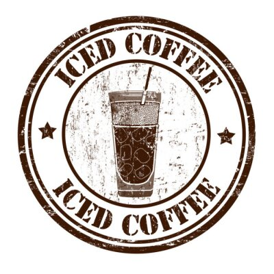 Poster Iced coffee stamp