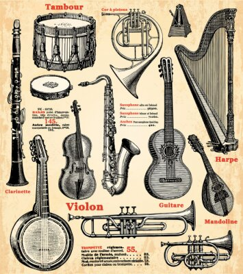 Poster Instruments de musique