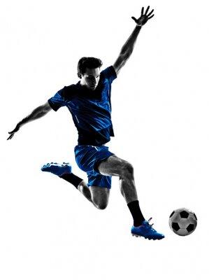 Poster italian soccer player man silhouette
