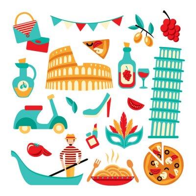 Poster Italy decorative set