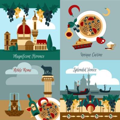 Poster Italy Touristic Set