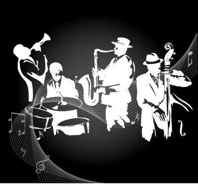 Poster Jazz concert black background