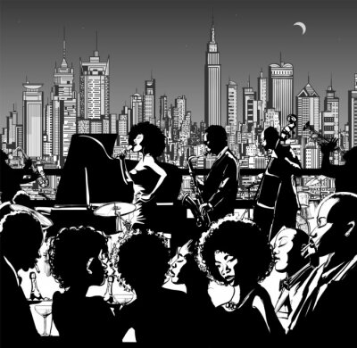 Poster Jazz music band performing in New York