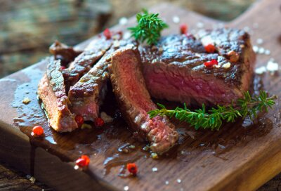 Poster Juicy Fillet Steak with Fresh Herbs