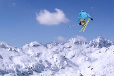 Poster Jumping skier