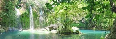 Poster kursunlu waterfall panorama in national park turkey