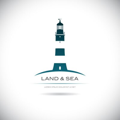 Poster Label with a picture of the lighthouse
