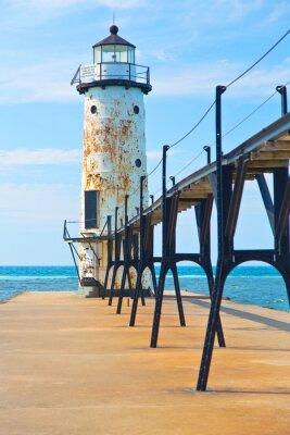 Poster Lake Michigan Lighthouse