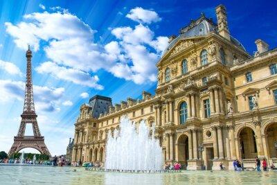 Poster Le Louvre, Paris, France
