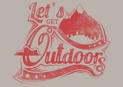 Poster Let's get outdoors