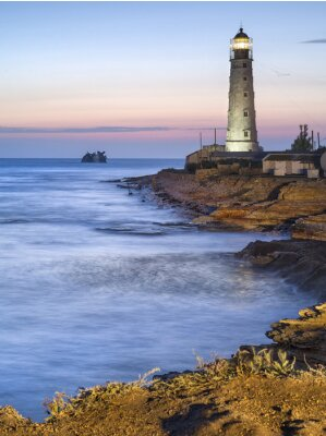 Poster Lighthouse in twilight