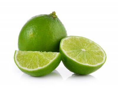 Poster lime on white background