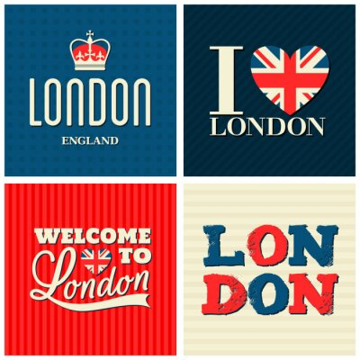 Poster London Cards Collection