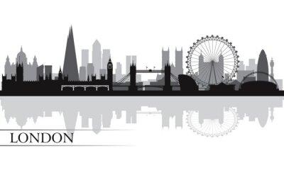 Poster London city skyline silhouette background