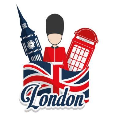 Poster London landmarks design