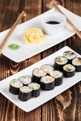 Poster Maki sushi set