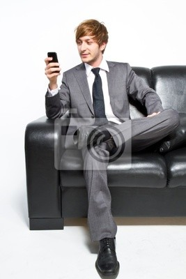 manager on sofa
