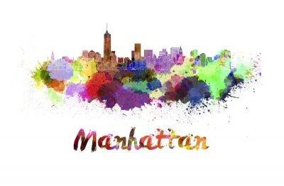 Poster Manhattan skyline in watercolor