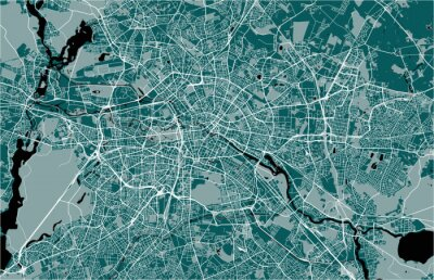 Poster map of the city of Berlin, Germany