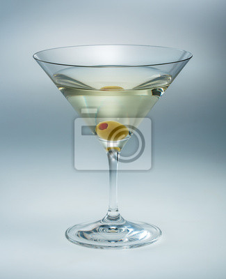 Poster Martini with olive isolated. vermouth