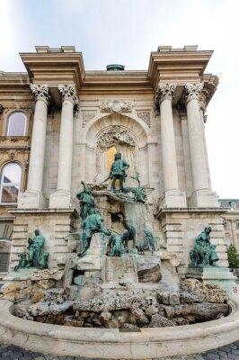 Poster Matthias Corvinus fountain