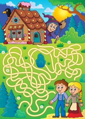 Poster Maze 30 with Hansel and Gretel theme