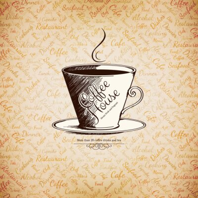 Poster Menu for restaurant, cafe, bar, coffee house