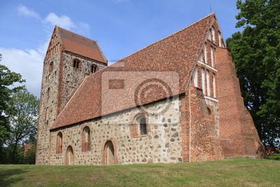 Poster Mittelalterliche Wehrkirche in Königsberg bei Wittstock