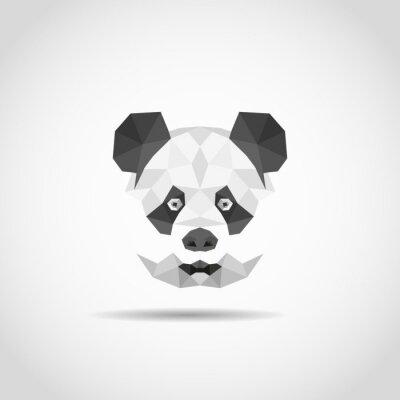 Poster Modern panda in polygonal style